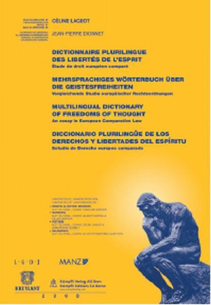Mehrsprachiges Wörterbuch über die Geistesfreiheiten - Coverbild