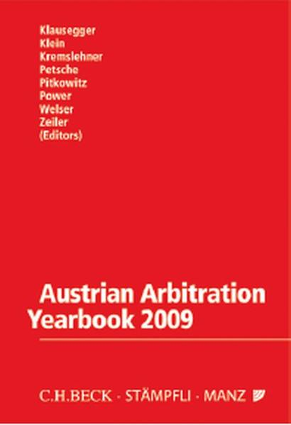 Austrian Arbitration Yearbook 2009 - Coverbild