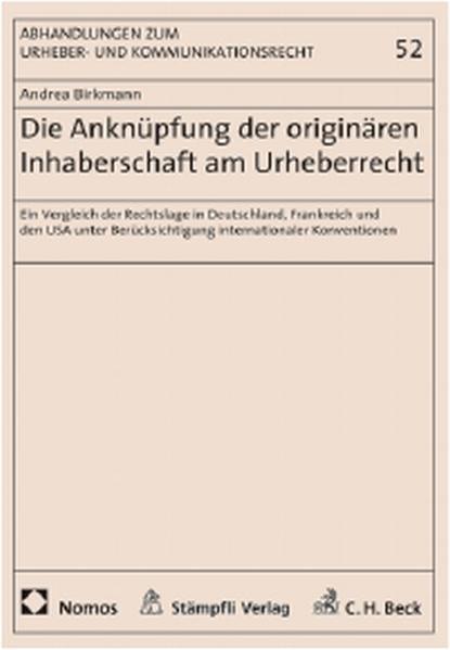 Die Anknüpfung der originären Inhaberschaft am Urheberrecht - Coverbild