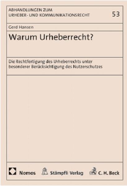 Warum Urheberrecht? - Coverbild