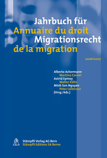 Jahrbuch für Migrationsrecht 2006/2007 - Coverbild