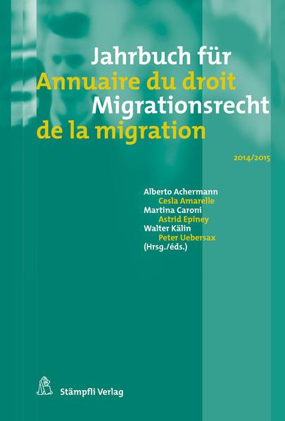 Jahrbuch für Migrationsrecht 2014/2015 - Coverbild