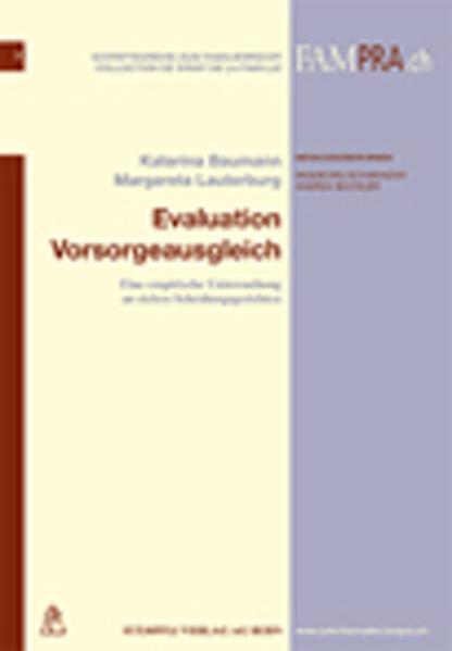 Evaluation Vorsorgeausgleich - Coverbild
