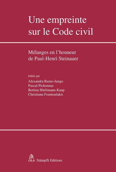 Une empreinte sur le Code civil - Coverbild