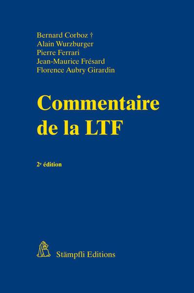 Commentaire de la LTF - Coverbild