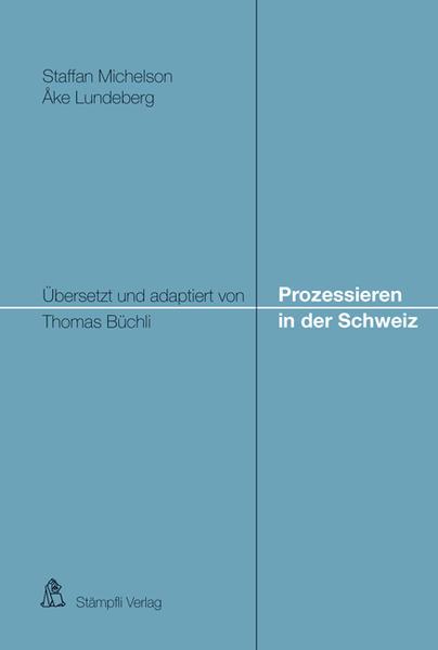Prozessieren in der Schweiz - Coverbild