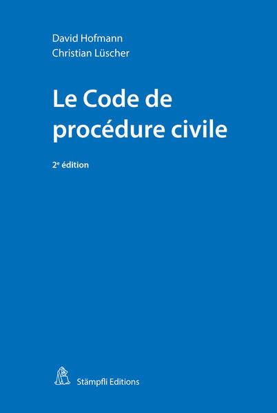 Le Code de procédure civile - Coverbild