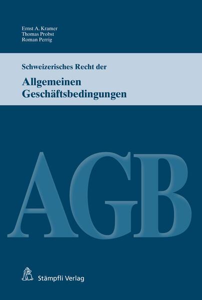 Schweizerisches Recht der Allgemeinen Geschäftsbedingungen - Coverbild