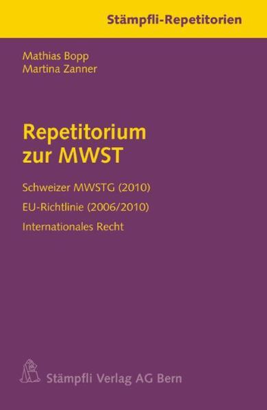 Repetitorium zur MWST - Coverbild