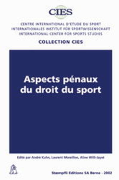 Aspects pénaux du droit du sport - Coverbild