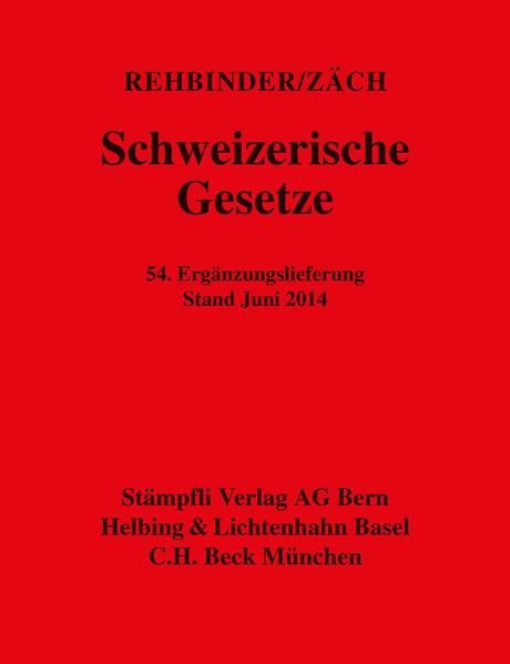 Schweizerische Gesetze - Coverbild