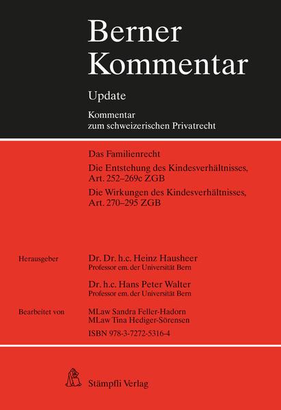 Berner Kommentar Update Kindesrecht, Art. 252-295 ZGB - Coverbild
