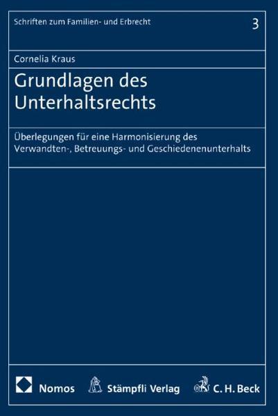 Grundlagen des Unterhaltsrechts - Coverbild