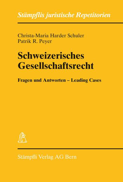 Schweizerisches Gesellschaftsrecht - Coverbild