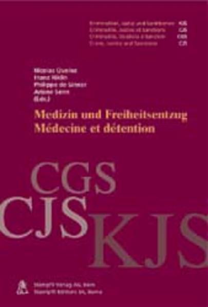 Medizin und Freiheitsentzug /Medecine et detention - Coverbild