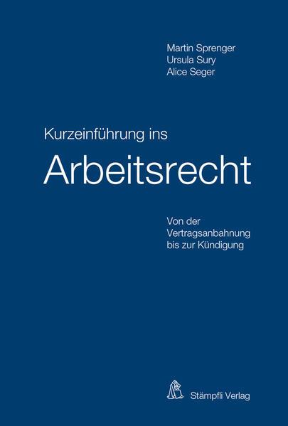 Kurzeinführung ins Arbeitsrecht - Coverbild