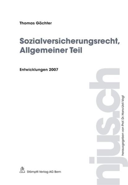 Sozialversicherungsrecht, Allgemeiner Teil - Coverbild
