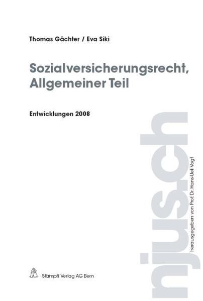 Sozialversicherungsrecht, Allgemeiner Teil, Entwicklungen 2008 - Coverbild