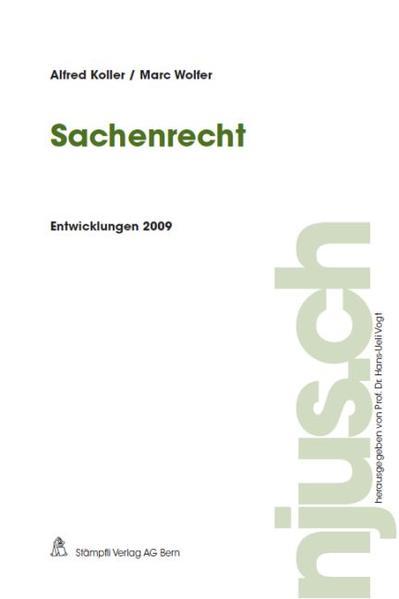 Sachenrecht, Entwicklungen 2009 - Coverbild