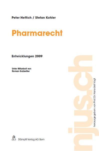 Pharmarecht, Entwicklungen 2009 - Coverbild