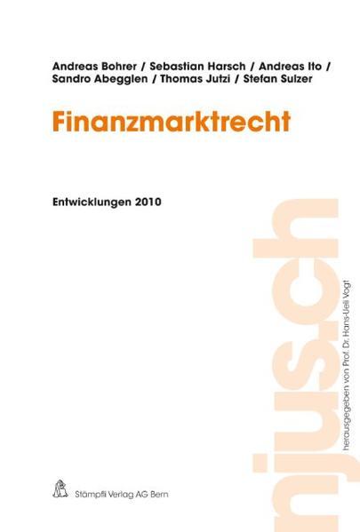 Finanzmarktrecht, Entwicklungen 2010 - Coverbild