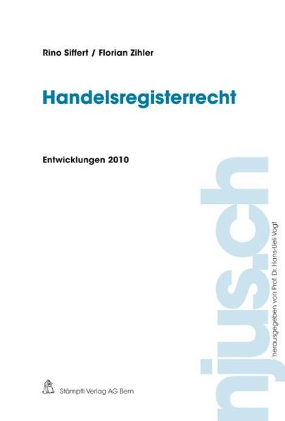 Handelsregisterrecht, Entwicklungen 2010 - Coverbild