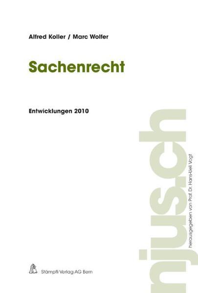 Sachenrecht, Entwicklungen 2010 - Coverbild
