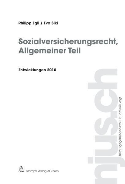 Sozialversicherungsrecht, Allgemeiner Teil, Entwicklungen 2010 - Coverbild