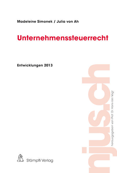 Unternehmenssteuerrecht, Entwicklungen 2013 - Coverbild