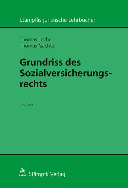 Grundriss des Sozialversicherungsrechts - Coverbild