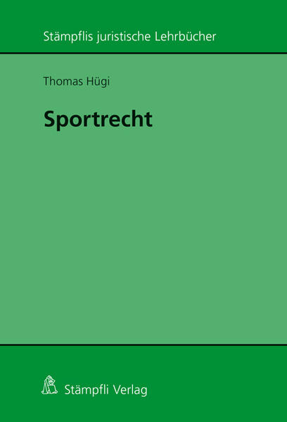 Sportrecht - Coverbild