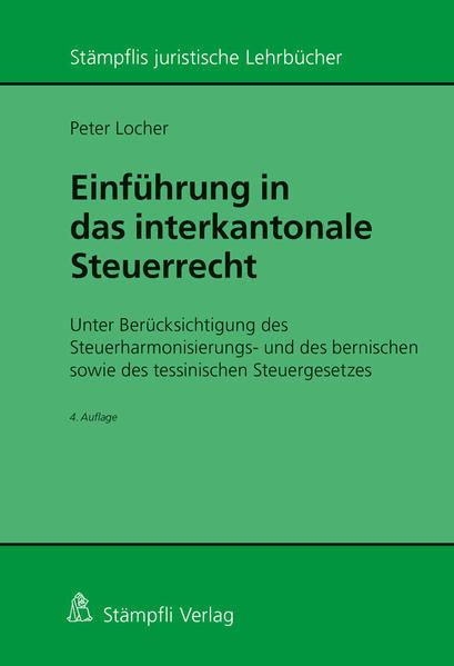 Einführung in das interkantonale Steuerrecht - Coverbild