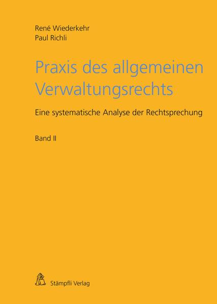 Praxis des allgemeinen Verwaltungsrechts - Coverbild