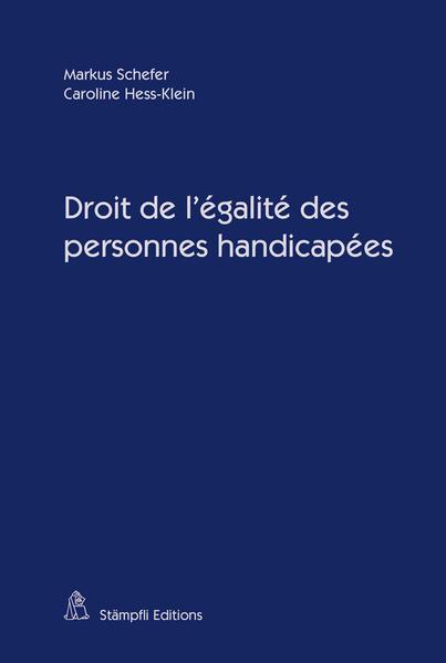 Droit de l'égalité des personnes handicapées - Coverbild