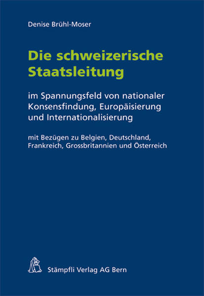 Die schweizerische Staatsleitung - Coverbild