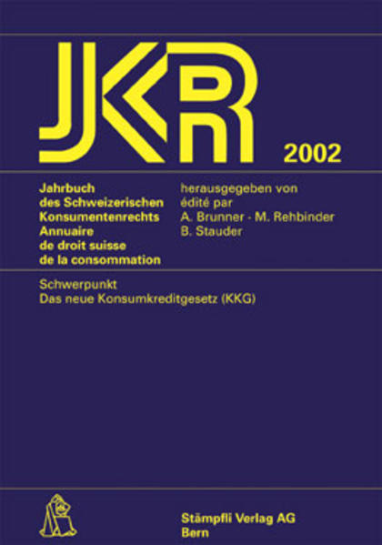 Jahrbuch des Schweizerischen Konsumentenrechts /Annuaire de droit... - Coverbild