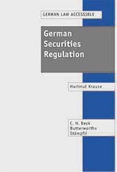 German Securities Regulation - Coverbild