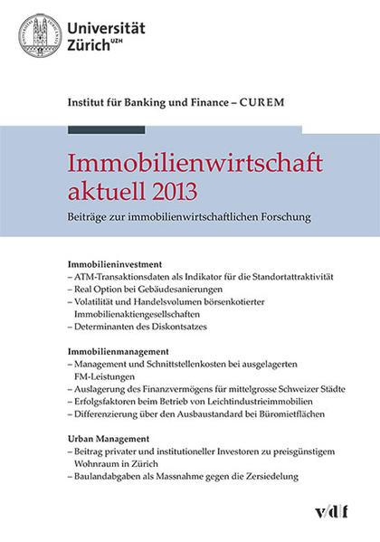 Immobilienwirtschaft aktuell 2013 - Coverbild