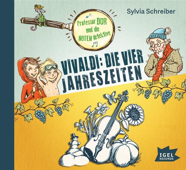 Professor Dur und die Notendetektive. Vivaldi: Die vier Jahreszeiten - Coverbild