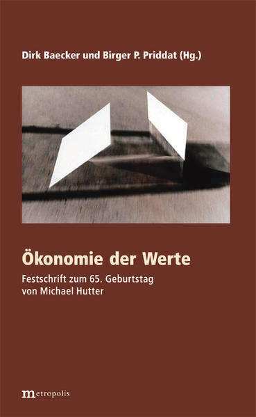 Ökonomie der Werte - Coverbild