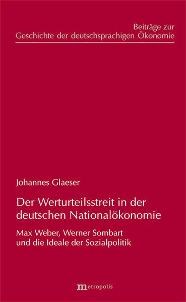 Der Werturteilsstreit in der deutschen Nationalökonomie - Coverbild