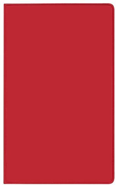 Taschenkalender Pluto geheftet PVC rot 2017 - Coverbild