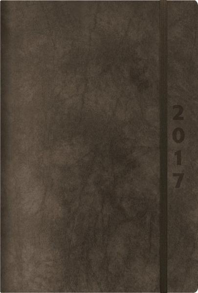 Buchkalender ReLeather Daily anthrazit 2017 - Coverbild