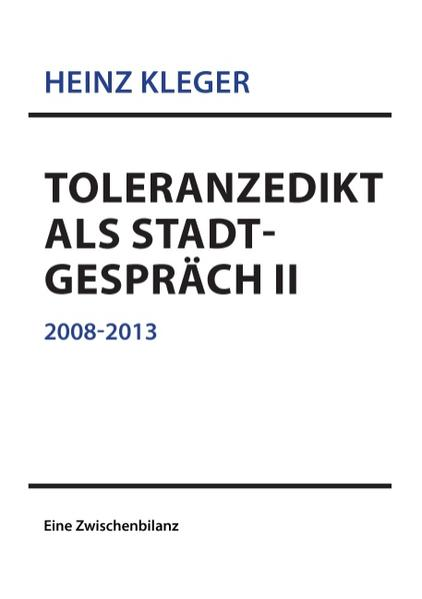 Toleranzedikt als Stadtgespräch II - Coverbild