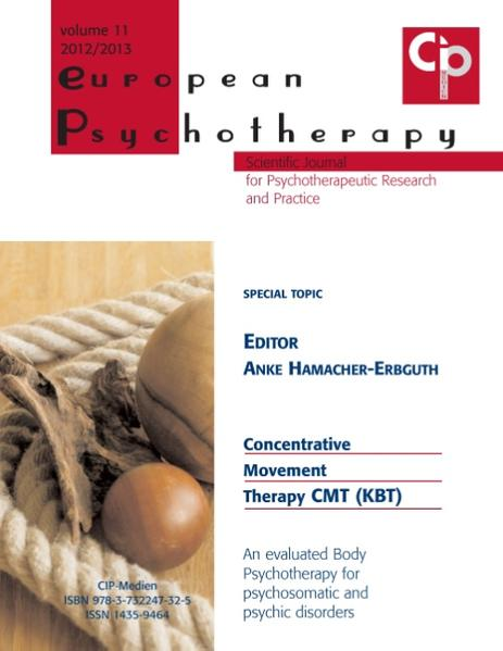 European Psychotherapy 2012/2013 - Coverbild