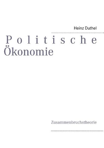 Politische Ökonomie - Coverbild