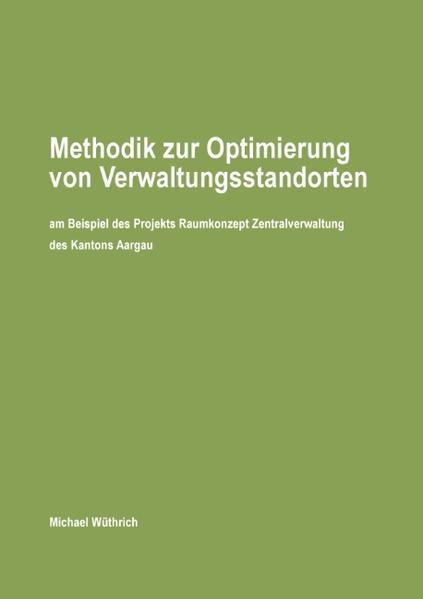 Methodik zur Optimierung von Verwaltungsstandorten - Coverbild