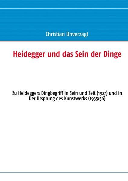 Heidegger und das Sein der Dinge - Coverbild