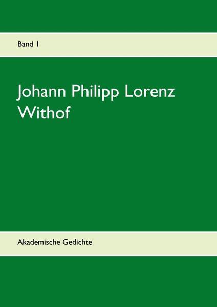 Johann Philipp Lorenz Withof - Coverbild