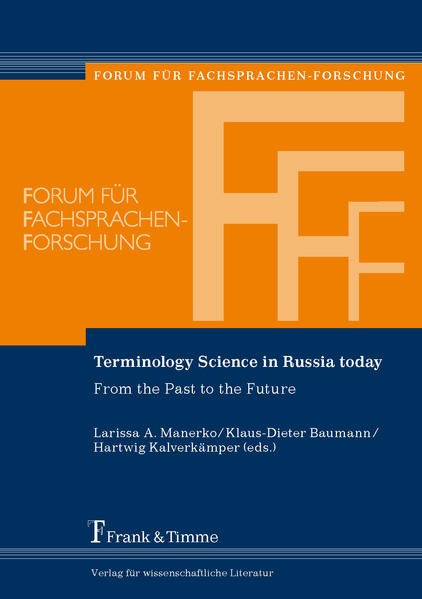 Terminology Science in Russia today - Coverbild
